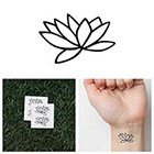 Tattify Fully Lotus - Temporary Tattoo (Set of 4)