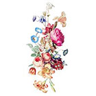TattooNbeyond Temporary Tattoo - Vintage Floral - Pick your size