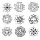 WildLifeDream Set of 9 Mandala flowers - Temporary tattoos