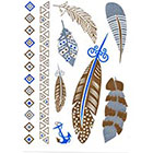 WildLifeDream Blue and gold Temporaty tattoos