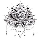 Tattoo LifeStyle Sets Lotus Flower temporary tattoos