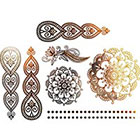 NovuInk Temporary Tattoo Gold Foil Jewellery Collection 'Mandala Ornamental Tribal Circle Flower'