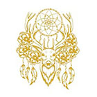 Royaltats Temporary Tattoo favors - Dream Catcher Deer - Pack of 12 Metallic Temporary Tattoos