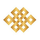 Royaltats Temporary Tattoo - Tibetan Endless Knot - Metallic Temporary Tattoo - Set of 12 Temporary Tattoos **Free Expedited Shipping **