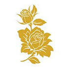 Royaltats Rose Bud - Metallic Temporary Tattoo - Set of 12 Temporary Tattoos **Free Expedited Shipping **