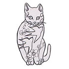 Soma Art Tattoo Custom cat Temporary Tattoo -SomaArtTattoo Temporary Tattoo - wrist quote tattoo body sticker fake tattoo small tattoo