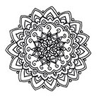 Lagoon House Small Mandala B, Hand Drawn Temporary Tattoo