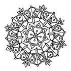 Lagoon House Small Traditional Mandala Hand Drawn Temporary Tattoo