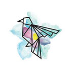 TattooWhatever Watercolour Origami Bird Temporary Tattoo - Set of 2