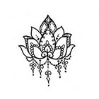 JoellesEmporium Lotus Flower Temporary Tattoo, Small Temporary Tattoo, FBlack, Modern Art, Gift Ideas Birthday Present, Festival Wear, Boho Style