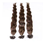 AboutHair U-Tip Medium Brown 100% Human Hair Extensions - Pre Bonded U Nail Tip Extensions