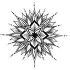 A Shine To It Delicate Mandala Temporary Tattoo Hand Drawn Geometric Illustration