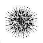 A Shine To It Mandala Temporary Tattoo Geometric Delicate Hand Drawn Design