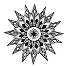 A Shine To It Geometric Mandala Temporary Tattoo Hand Drawn Illustration