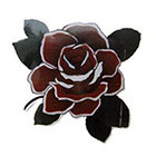 Lagoon House Dark Red Rose Hand Drawn Temporary Tattoo
