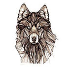 Atattood Large Wolf Temporary Tattoo