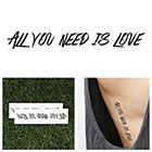 Tattify Love Love Love - Temporary Tattoo (Set of 2)