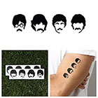 Tattify The Fab Four - Temporary Tattoo (Set of 2)