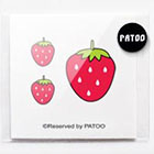 BoxingFashion Strawberry Sticker Temporary Tattoo-Fake Tattoo Quote Body Art Teen Girl Findings Gifts
