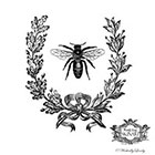 Wickedly Lovely Vintage French Bee temporary tattoo, Vintage Bee, Bee and french wreath temp tattoo, Body Art, WickedlyLovely Skin art, choose your size