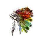 Atattood Watercolor Headdress Temporary Tattoo