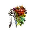 Atattood Watercolor Headdress Temporary Tattoo