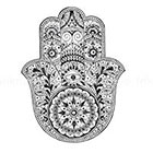 InknArt Large Boho fatima hamsa Hand Pattern Tattoo - InknArt Temporary Tattoo - pack tattoo quote wrist ankle body sticker anchor fake tattoo Copy
