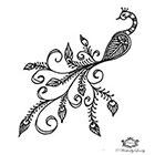 Wickedly Lovely Boho Peacock, Peacock tattoo, Henna style tattoo, festival tattoo, boho, Skin Art, Body Art, Wickedly Lovely Skin Art TemporaryTattoo
