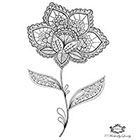 Wickedly Lovely Boho Flower, Henna Flower tattoo, Henna style tattoo, festival tattoo, boho, Skin Art, Body Art, Wickedly Lovely Skin Art TemporaryTattoo