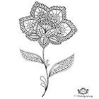 Wickedly Lovely Boho Flower, Henna Flower tattoo, Henna style tattoo, festival tattoo, boho, Skin Art, Body Art, Wickedly Lovely Skin Art TemporaryTattoo