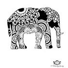 Wickedly Lovely Boho Elephant, Elephant tattoo, Henna style tattoo, festival tattoo, boho, Skin Art, Body Art, Wickedly Lovely Skin Art TemporaryTattoo