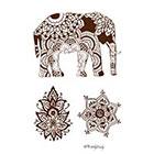 Wickedly Lovely Indian Summer temporary tattoo set, boho tats, festival tattoo, boho tattoos henna style tattoos, Skin Art, Body Art, Wickedly Lovely