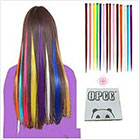 Amazon OPCC Bundle 12 Pieces of 22 Inches Multi-Colors Party Highlights Colorful Clip In Synthetic Hair Extensions Hairpieces,1PCS Opcc Sticky Notes included