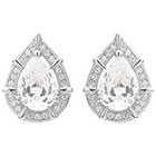 Journee Collection 2 3/4 CT. T.W. Pear Cut CZ Basket Set Stud Earrings in Brass - Silver