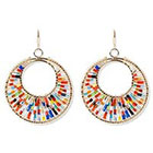 Natasha Accessories Beaded Earring with Beads - Multicolor (2
