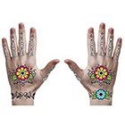 Amazon.com Day of the Dead Floral Hand Temporary Tattoo #124