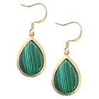 Target Zirconite Malachite Fish Hook Earring - Green