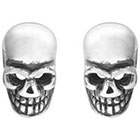 Target Skull Stud Earrings - Silver