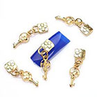Amazon ECBASKET Fashion 3D Nail Charms Chains Lock Key Special Nail Alloy Decoration Manicure Rhinestone DIY # 113