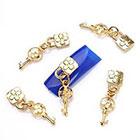 Amazon ECBASKET Fashion 3D Nail Charms Chains Lock Key Special Nail Alloy Decoration Manicure Rhinestone DIY # 113