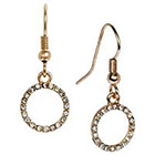 Target Open Circle Drop Earring with Pave Accents - Gold