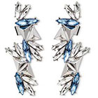 Target 8OR 8 Other Reasons Ear Cuff Earrings with Glass Stones in Silver Setting - Blue