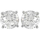 Target 1/2 CT. T.W. Tressa Round Cut Cubic Zirconia Basket Set Stud Earrings in Sterling Silver - Silver