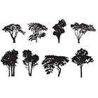 WildLifeDream Set of 8 trees - Temporary tattoos