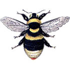 Taboo Tattoo 2 Vintage Bumble Bee Temporary Tattoo, various sizes available in color