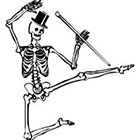 Taboo Tattoo 2 Dancing Skeleton Temporary Tattoo, various sizes available Pirate Halloween Gothic