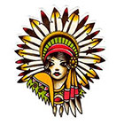 Atattood Indian Princess Temporary Tattoo
