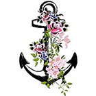 TattooNbeyond Temporary Tattoo - Flower Anchor
