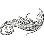 Taboo Tattoo 2 Vintage Flying Fish Temporary Tattoo, various sizes available