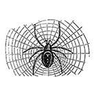 Taboo Tattoo 2 Vintage Halloween Spider on Web Temporary Tattoo, various sizes available
